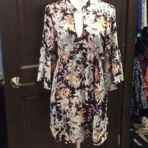 Low cut floral tunic